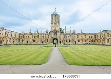 Oxford, England - 24 July 2016 - Christ Church College, A Constituent College Of The University Of O