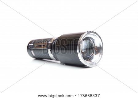 A LED torch isolated on white background