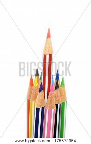 Red Color Pencil Standing Out