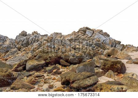 Big rock isolated on white background. This has clipping path.