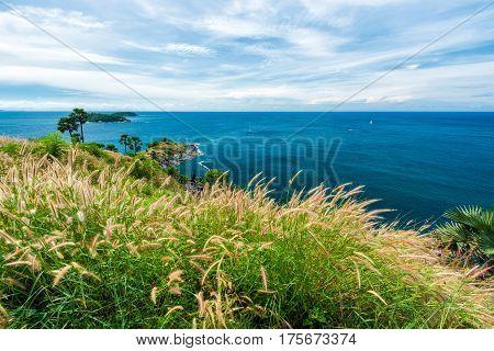 Landscape of Phromthep cape viewpoint in PhuketThailand