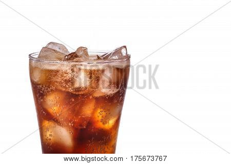 Glass Of Soft Drink. Studio Shot Isolated On White Background