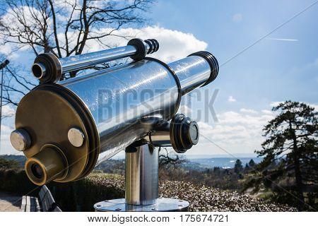 Tourist Telescope Eyepiece Travel Tourist Destination Landscape Magnification Looking View Beautiful