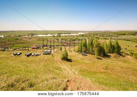 Sekiotovo, Ryazan, Russia - May 9, 2016: Autocross Russian Cup Championship Stage, Spectators Watch,