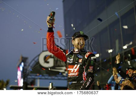 February 26, 2017 - Daytona Beach, Florida, USA: Kurt Busch (41) wins the track for the Daytona 500 at Daytona International Speedway in Daytona Beach, Florida.