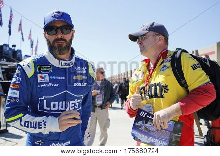March 04, 2017 - Hampton, Georgia, USA: Jimmie Johnson (48) gets ready to practice for the Folds of Honor QuikTrip 500 at Atlanta Motor Speedway in Hampton, Georgia.