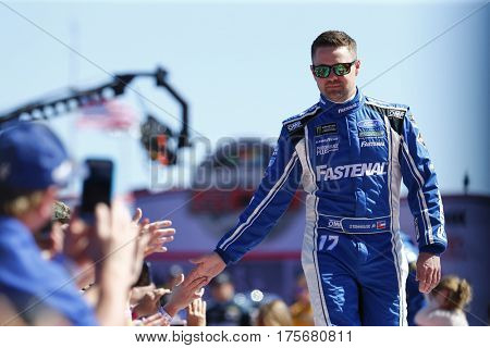 February 26, 2017 - Daytona Beach, Florida, USA: Ricky Stenhouse Jr. (17) gets introduced to the crowd for the Daytona 500 at Daytona International Speedway in Daytona Beach, Florida.