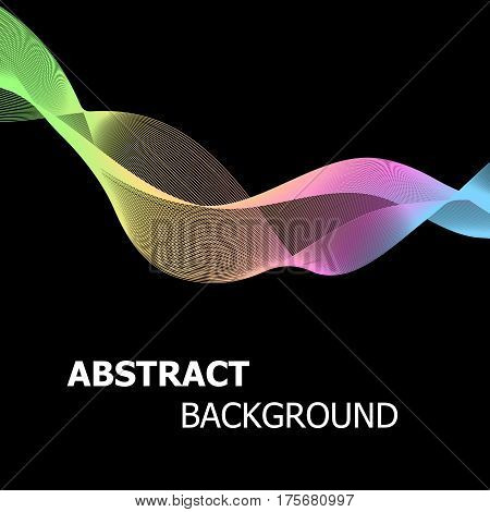 Abstract background with colourful pastel line wave, stock vector