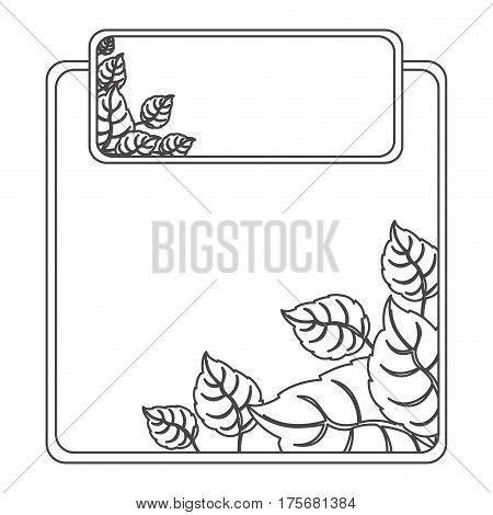 figure sheath of leaves icon, vector illustraction design