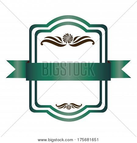 green square emblem icon, vector illustraction design image