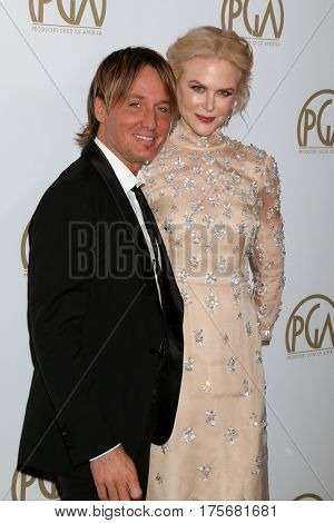 LOS ANGELES - JAN 28:  Keith Urban, Nicole Kidman at the 2017 Producers Guild Awards  at Beverly Hilton Hotel on January 28, 2017 in Beverly Hills, CA