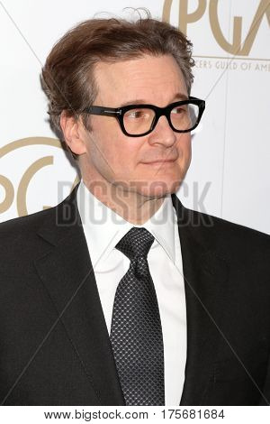 LOS ANGELES - JAN 28:  Colin Firth at the 2017 Producers Guild Awards  at Beverly Hilton Hotel on January 28, 2017 in Beverly Hills, CA