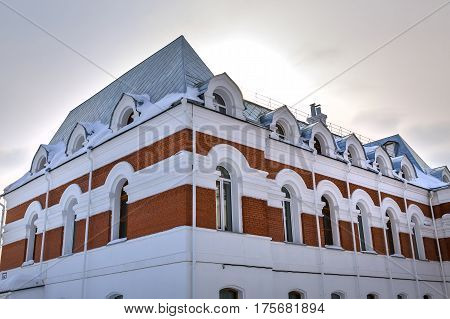 Berdsk Novosibirsk oblast Siberia Russia - February 26 2017: non-state educational institution - the Orthodox Gymnasium named after St. Seraphim of Sarov