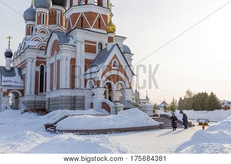 Berdsk Novosibirsk oblast Siberia Russia - February 26 2017: the Cathedral in honour of the Transfiguration of the Lord