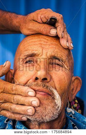 Portrait Of Uyghur Man