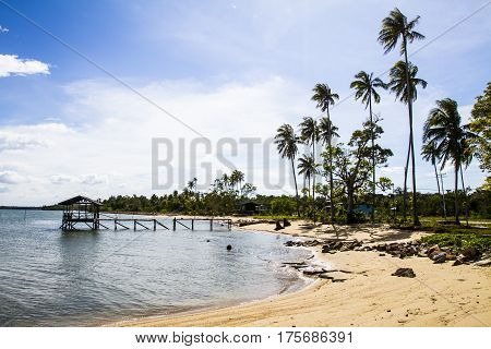 Secluded Beach With Clear Skies