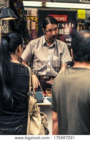 Man Selling Shoes