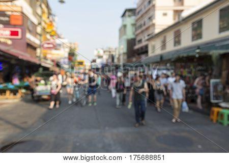 Khao San Blur Background