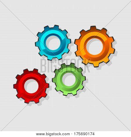 Mechanism concept illustration. Cogwheel gear mechanism concept illustration.