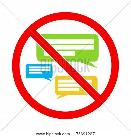 Silent please. No Speaking. Keep quiet. Sign vector