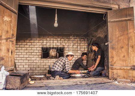 Men Making Bread