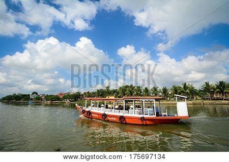 River Scene In Hoi An, Vietnam