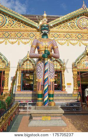 Wat Chayamangkalaram Thai temple in Georgetown Malaysia