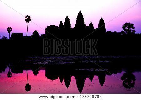 Sunrise at Ankor Wat Siem Reap Cambodia