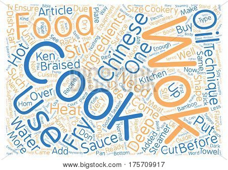 A Beginners Guide to Chinese Cookery text background word cloud concept