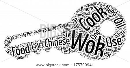 A Beginners Guide to Chinese Cookery Word Cloud Concept Text Background
