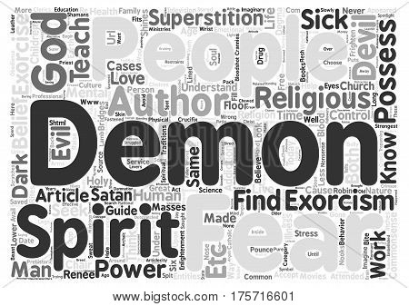 A Commonsense Guide to Exorcism text background word cloud concept