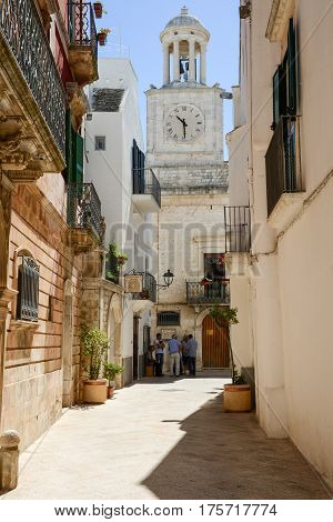 The Scenic Village Of Locorotondo On Puglia