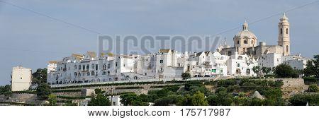 Panoramic View Of Locorotondo On Puglia