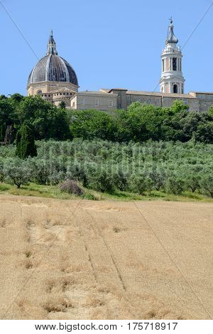 Shrine Of Our Lady At Loreto On Marche