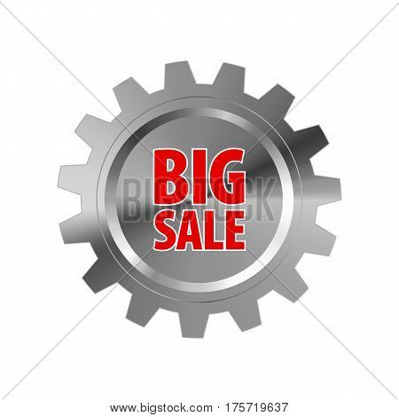 Gray Metal Gear With Words 'big Sale'