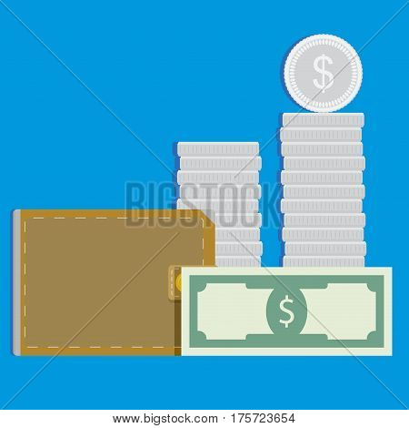 Money vector concept. Capitalization and refinancing wealth income illustration