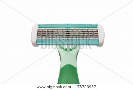 machine for shaving on a white background