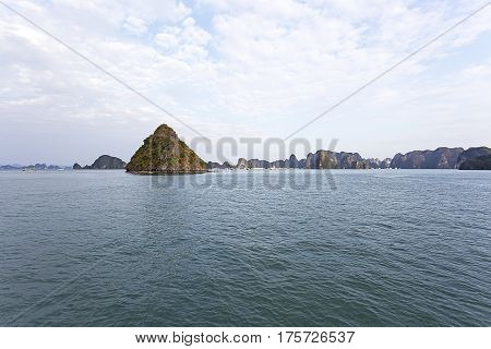 Halong Bay Vietnam is Unesco World Heritage Site. It is the most popular place in Vietnam.
