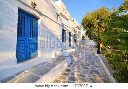 houses at the castle of Sifnos island Cyclades Greece