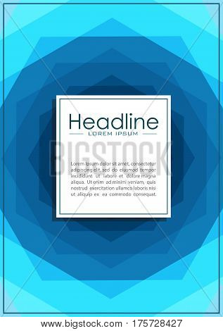 Modern annual report cover. Book layout design template A4. Presentation conference academic journal flyer magazine website Vector.