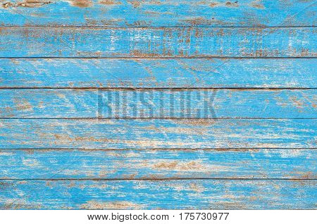 Distressed blue rustic wood backdrop, wood background