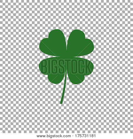 Four leaf clover icon. Leaf clover sign