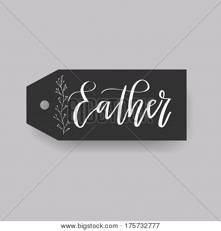 Eather - common female first name on a tag, perfect for seating card usage. One of wide collection in modern calligraphy style.