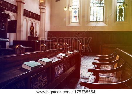 Church Interior Neat Bible for christian