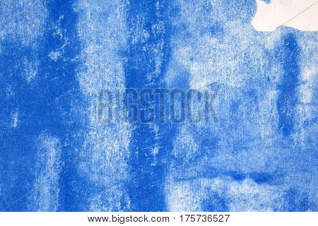 Abstract hand drawn blue watercolor paints background