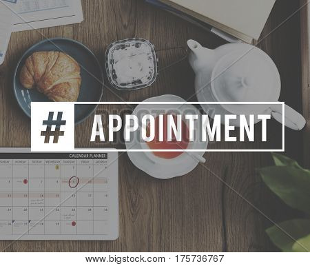 Appointment Activity Schedule Eating Brunch