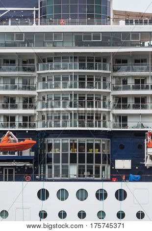 Many Atrium Windows on a Cruise Ship