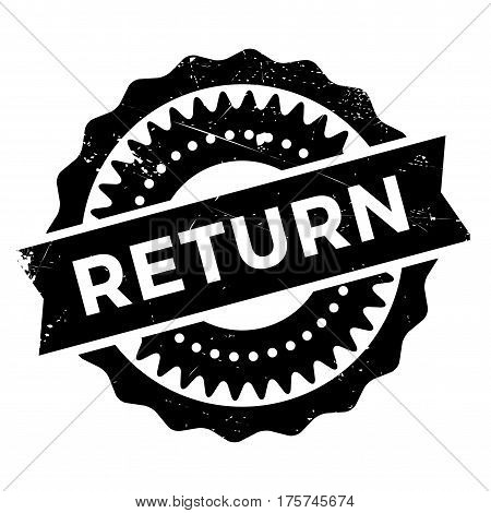 Return stamp. Grunge design with dust scratches. Effects can be easily removed for a clean, crisp look. Color is easily changed.