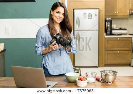 Beautiful Food Photographer At Work