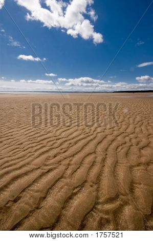 Sand Dune, Blue Sky And Cloud